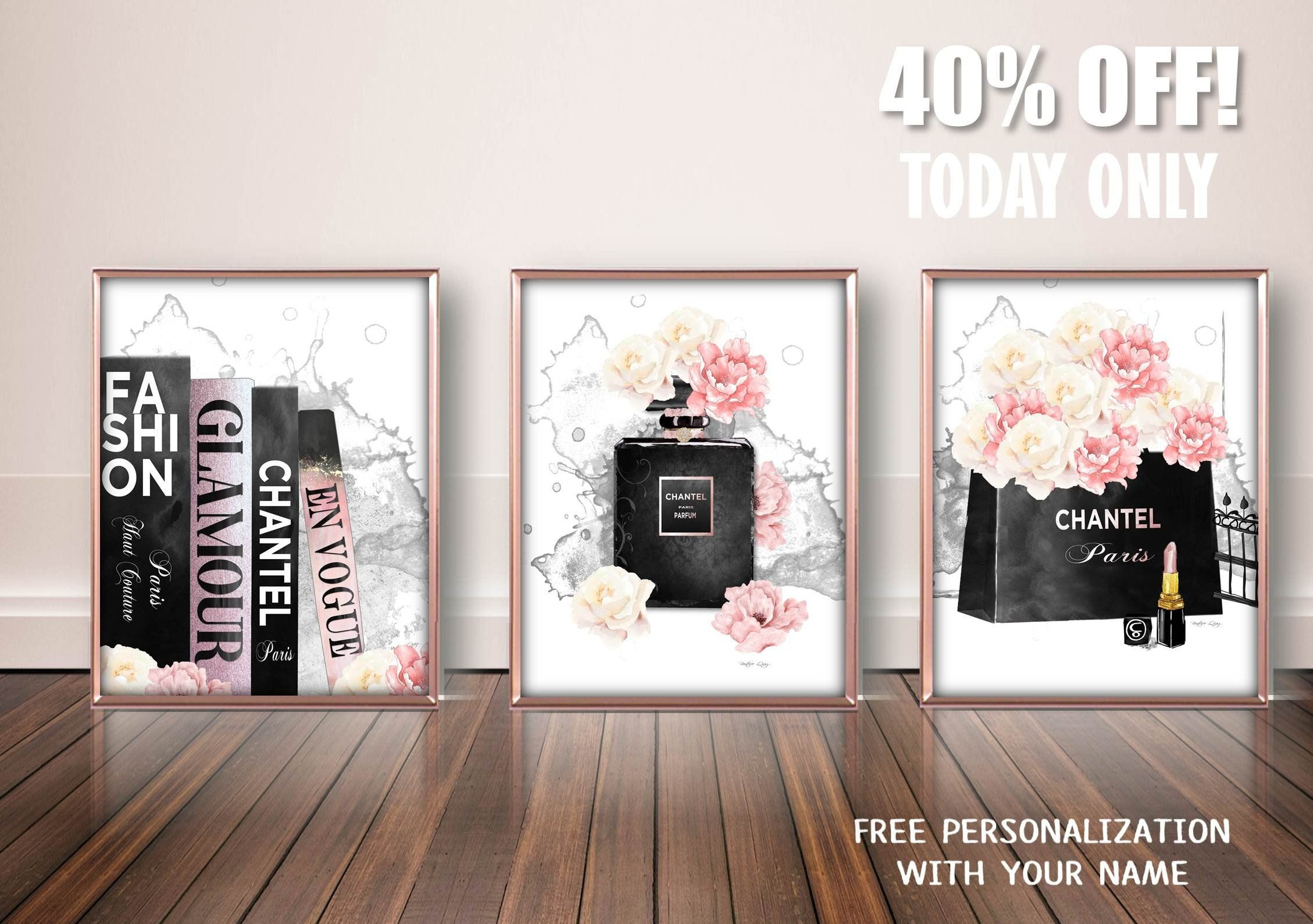 b94fdcb089431 Fashion Poster Set, Fashion Art Print Set, Fashion Art Set, Designer ...