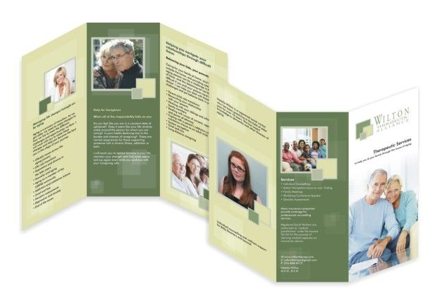 Tri Fold  Panel  Therapeutic Services Brochure  Brochure