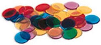 250 Piece Transparent Counters Set (Set of 3)