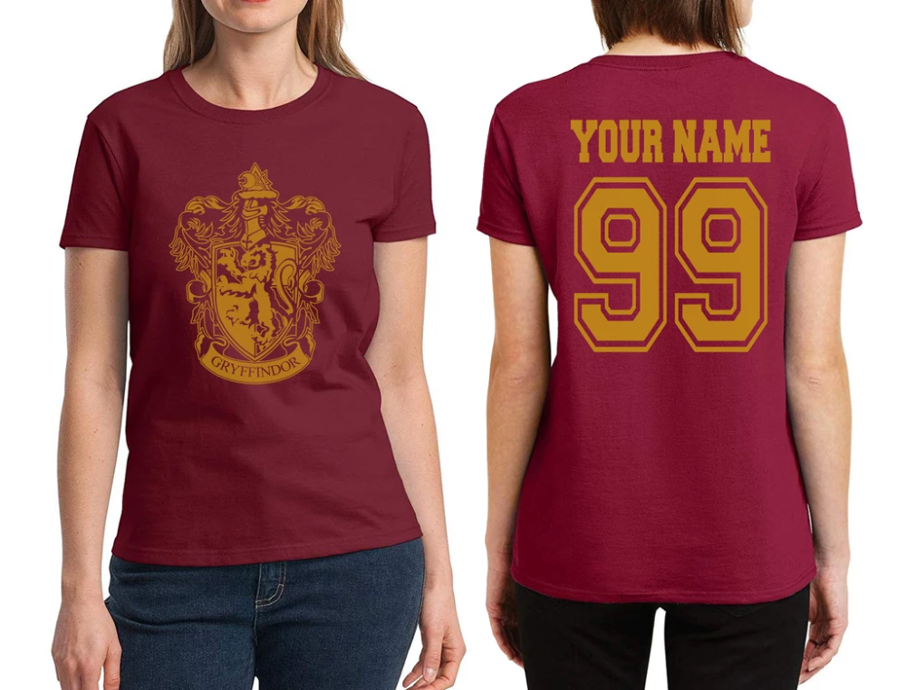 Customize Gryffindor Crest 1 All Yellow ink Women T
