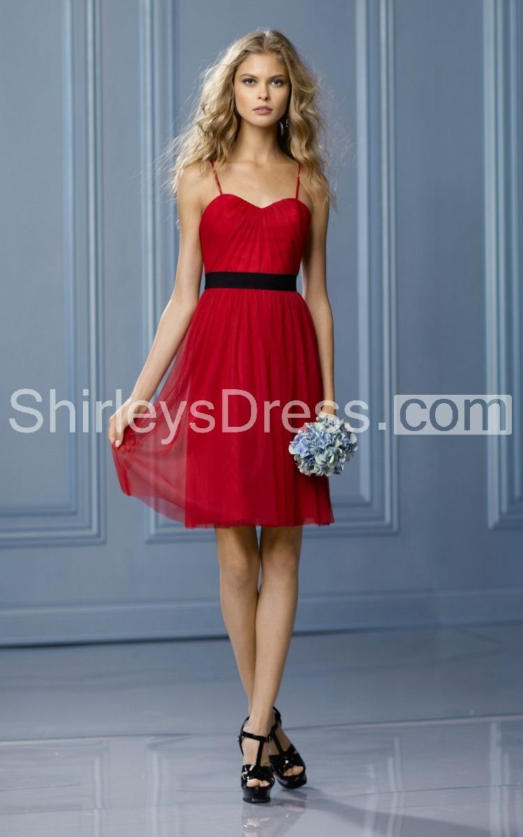 Sleeveless sweetheart sash short tulle dress wedding dress ideas