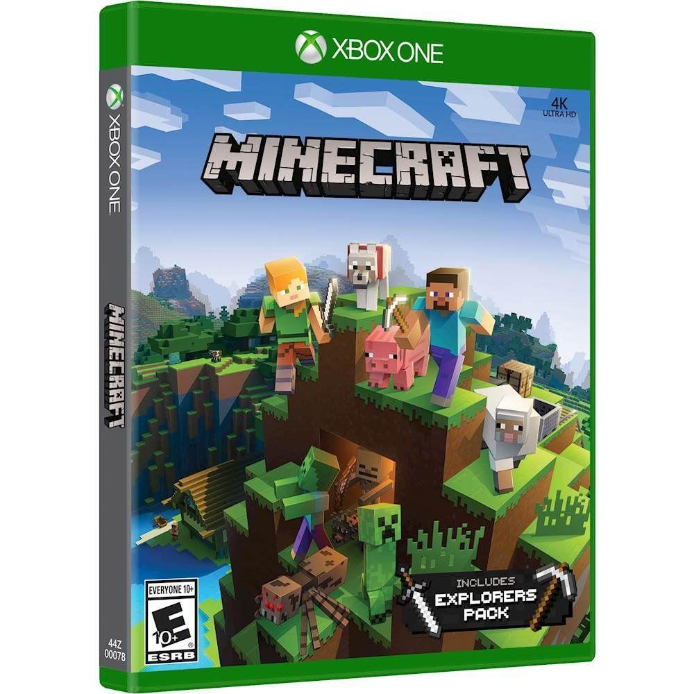 Best Buy Minecraft Explorers Pack Xbox One 44z 00078 Xbox One Xbox One Games Xbox