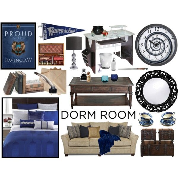Ravenclaw dorm room d cor by fishystarz on polyvore for Mobili harry potter