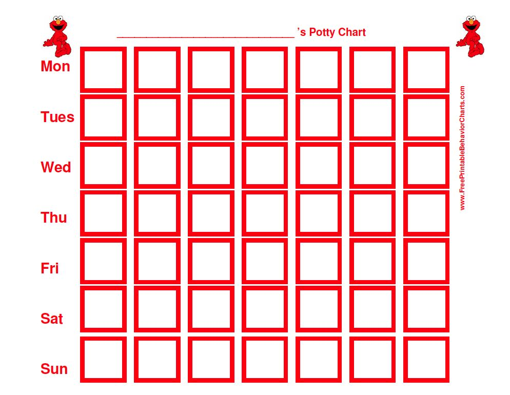 elmo potty chart