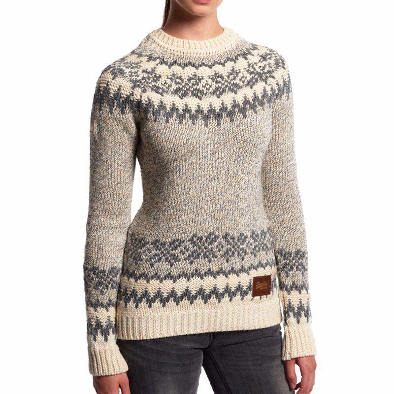 Modèle Et Courcheval Gris Pull Beige Superdry Femme Knit Vch6pqbwn Crème Yq0p0Tg