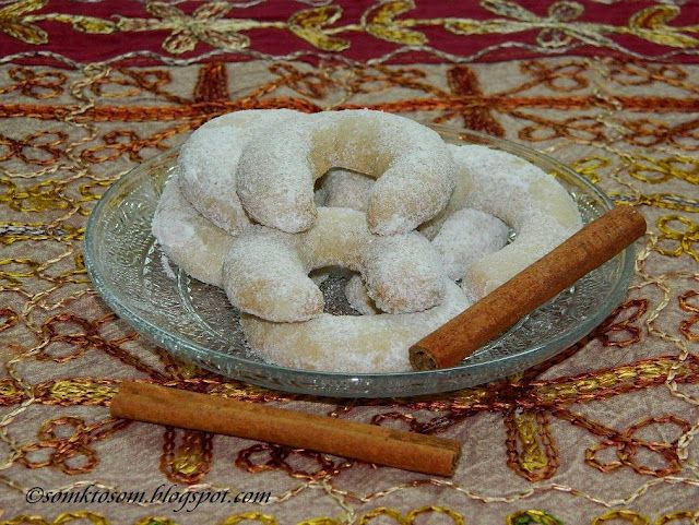 Almond Crescents Cookies Slovak Christmas Cookies Not In English