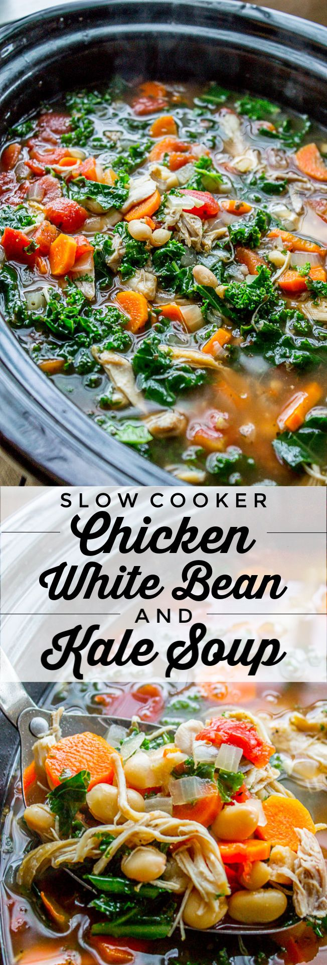 Photo of Chicken, White Bean & Kale Soup (Slow Cooker) from The Food Charlatan