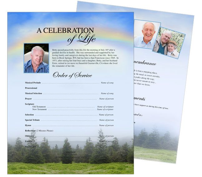 letter size one page flyers sample promise one page funeral flyer