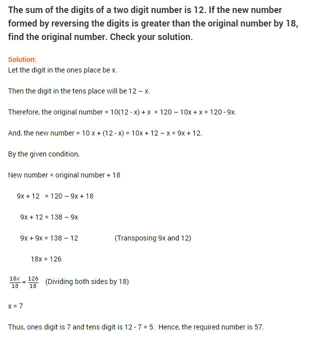 linear equations in one variable ncert extra questions for class-8 ...