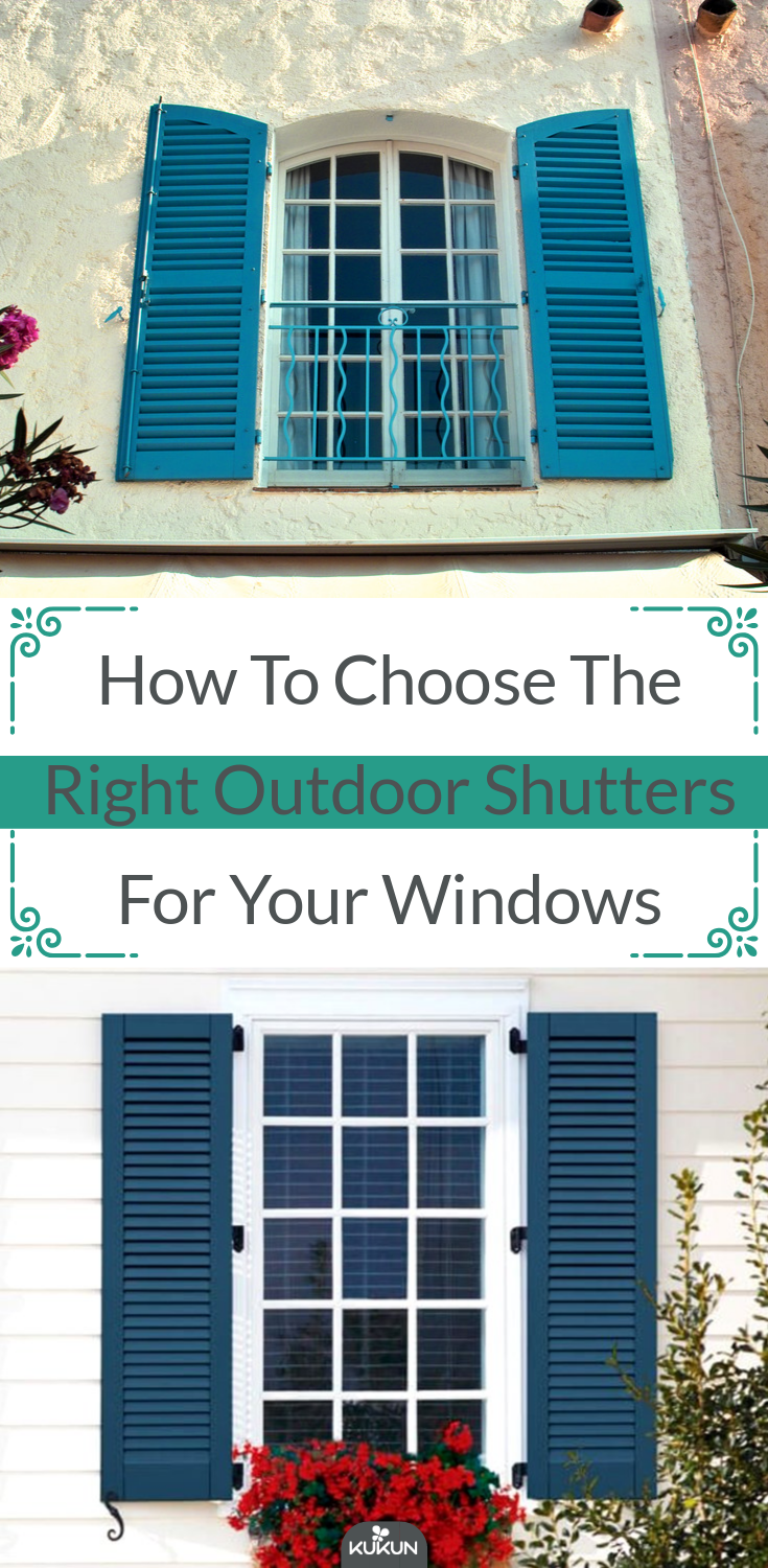 how to choose shutter color for house