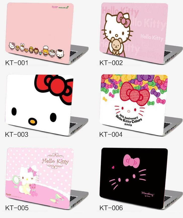 207dc401f Notebook laptop case film 17.3 size 17 inch computer sticker outside  protective cover ipad skin Decal hello kitty kt pink gift