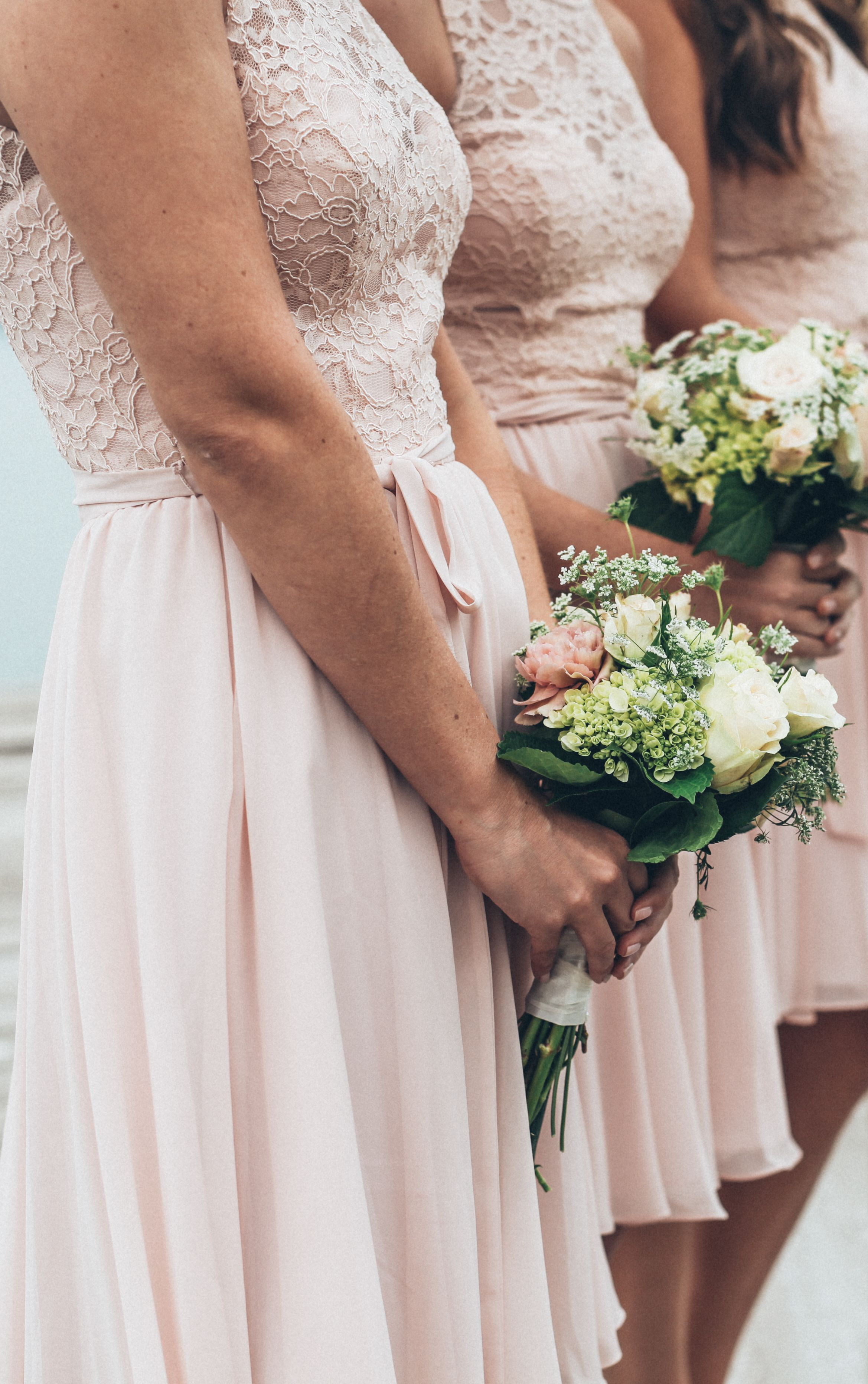 Londyn pinterest lace top bridesmaid dresses blush pink and
