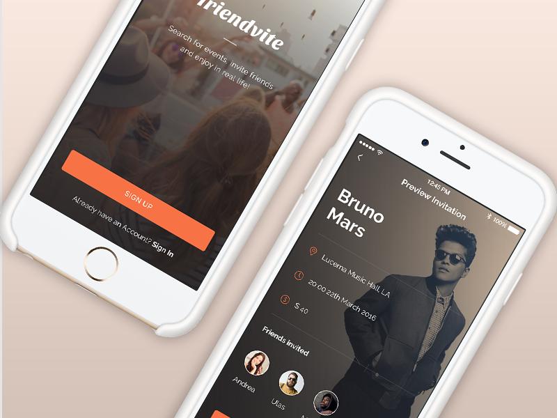 Friendvite App by Tanya Zlebnik