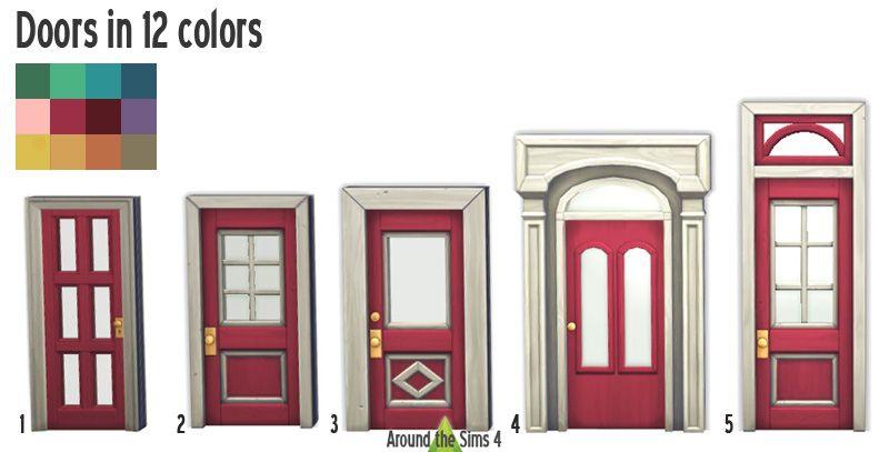 Colors of New Orleans doors  sc 1 st  Pinterest & Colors of New Orleans doors | Sims 4 Builds | Pinterest | Sims ...