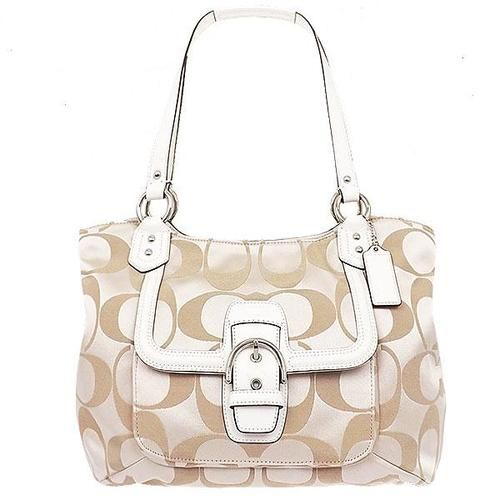2b53822115d4 NWT Coach Campbell Signature Belle Carryall Tote Bag. Starting at  10 on  Tophatter.com!