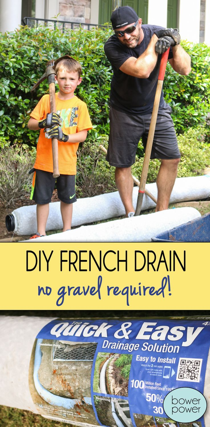 Easy DIY French Drain | Drainage solutions, Drainage ...