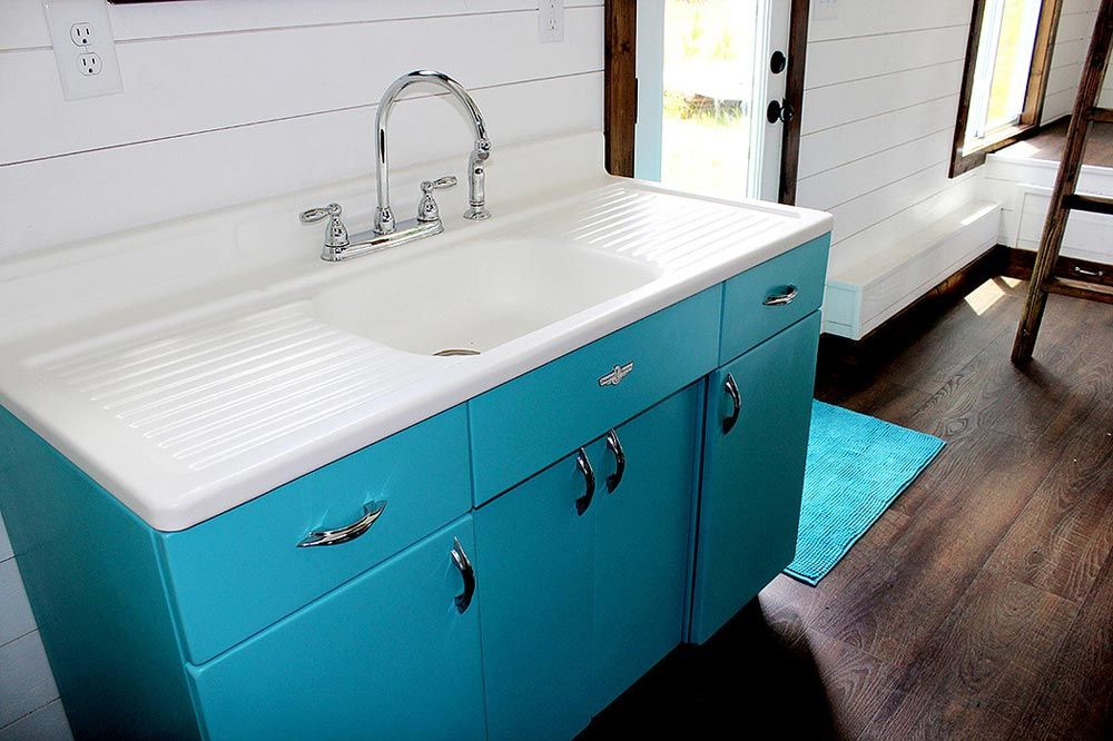 Youngstown by harmony tiny homes sinks tiny houses and tiny living fully restored vintage 1940s sink youngstown by harmony tiny homes workwithnaturefo