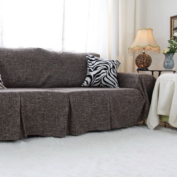 Gray Couch Slipcover | Superior Couch Slipcovers | Grey couch covers ...