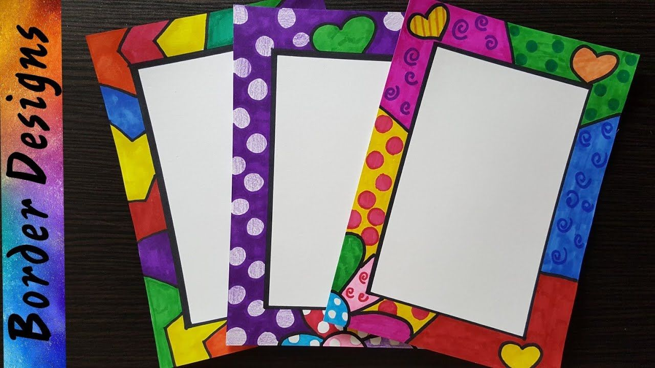 How to make easy page border designs for assignment school projects part youtube also rh pinterest