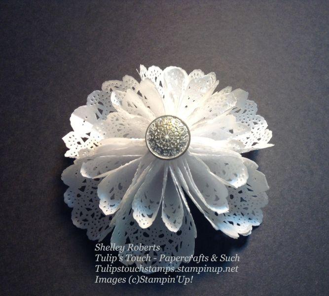 Doily flower bow paper doilies pinterest paper doilies doily flower bow mightylinksfo