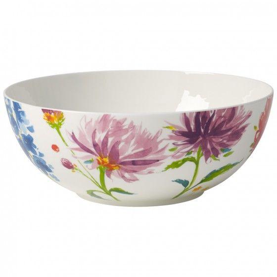 Villeroy Boch Anmut Flowers Round Bowl 8 1 4 In 00 Vegetable Bowl Villeroy Boch Bowl