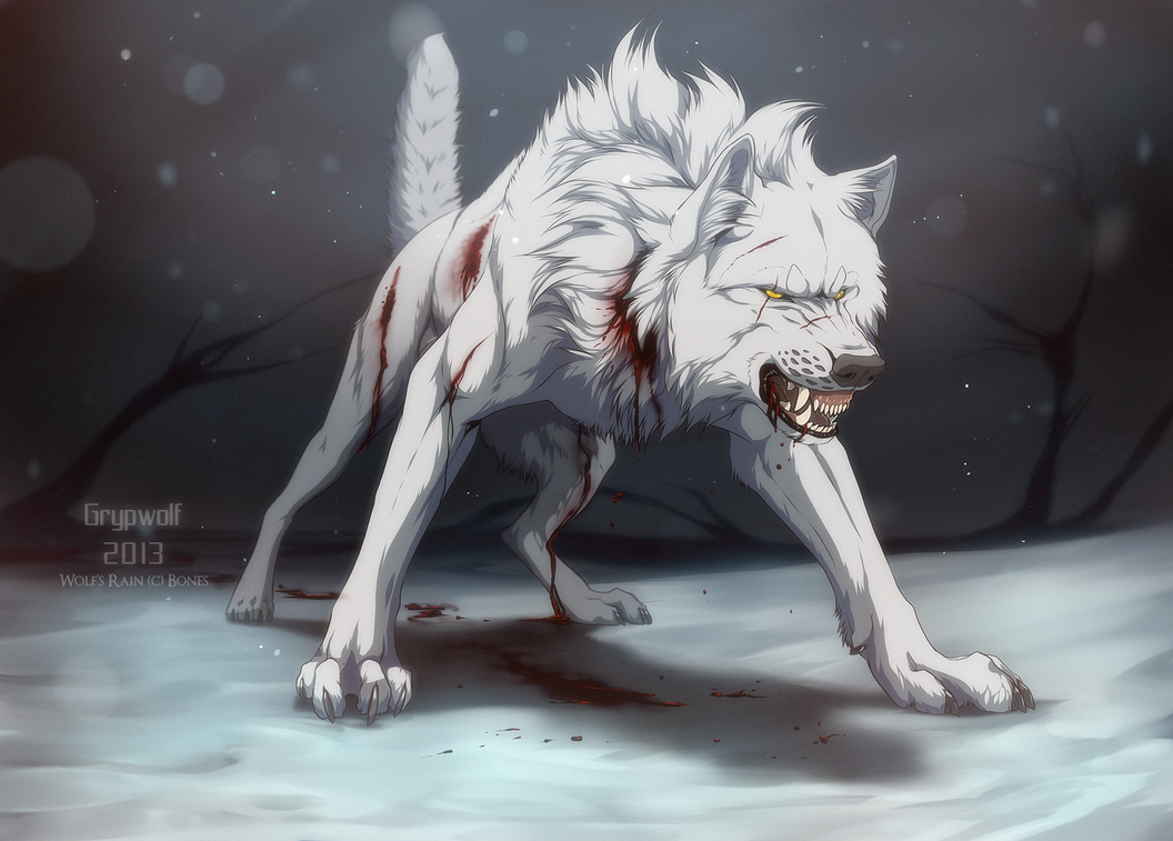 Blood, the scars he has permanently look like they are ...