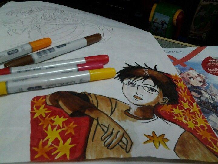 Manga marker rendering illustration