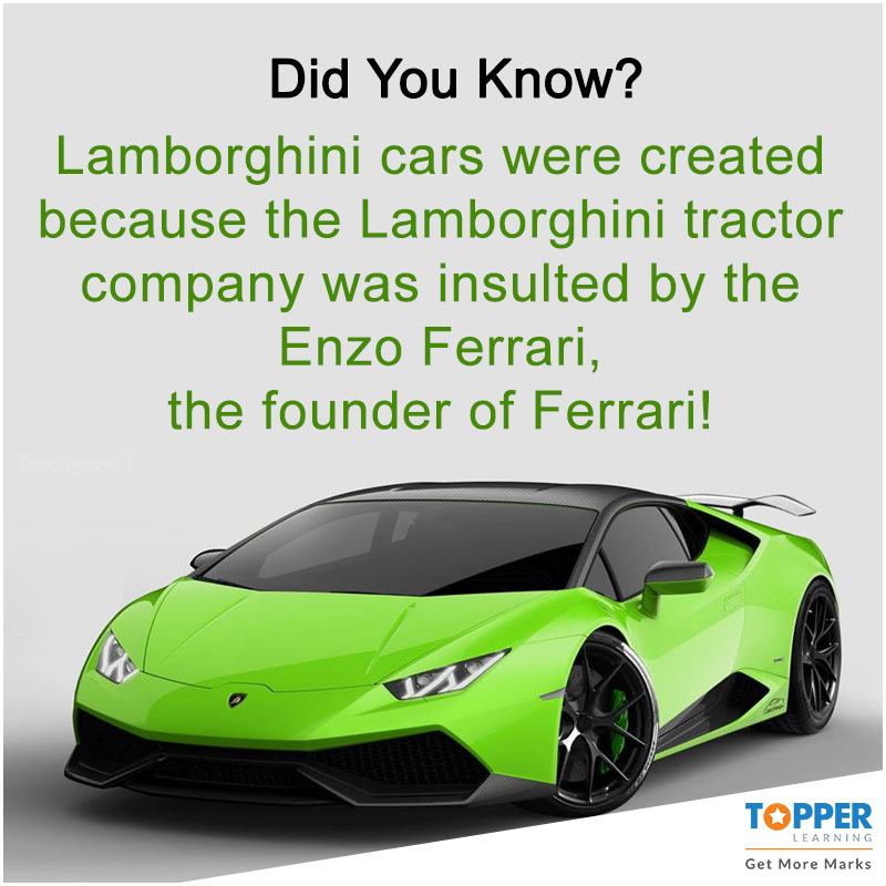 didyouknow lamborghini cars were created because the lamborghini tractor company was insulted by enzo