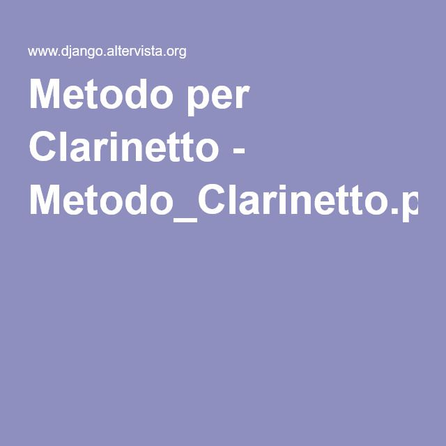 Metodo per Clarinetto - Metodo_Clarinetto.pdf