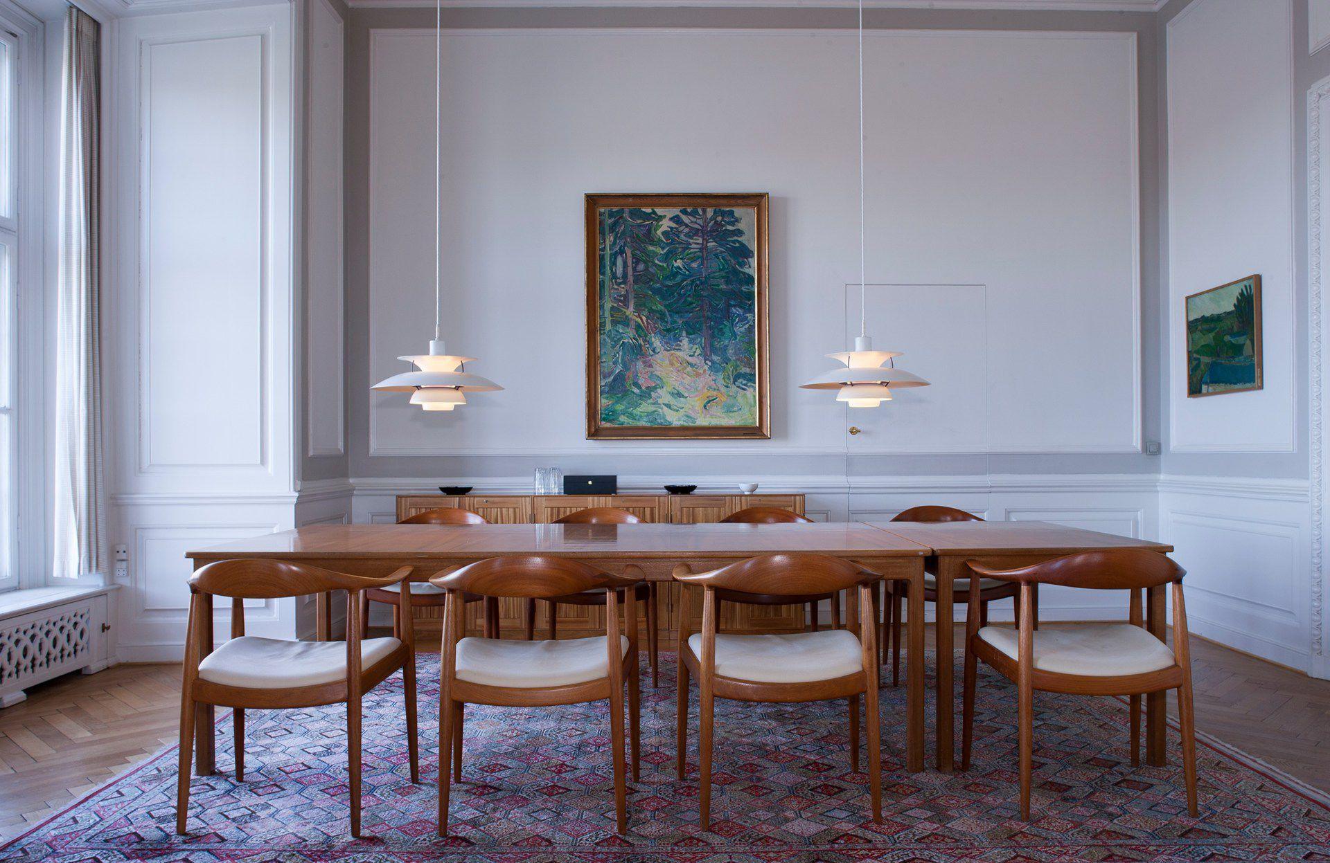 Pendant lamp / contemporary / aluminum / gray - PH 5 & PH 50 by Poul ...