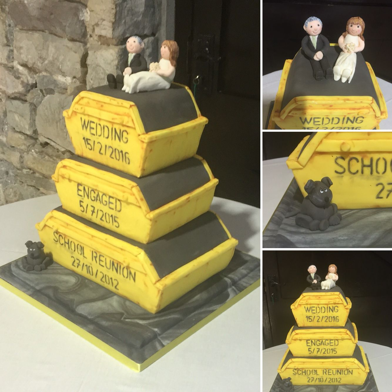 Rubbish Skip Wedding Cake   My cakes @abfabcakes   Pinterest   Cake
