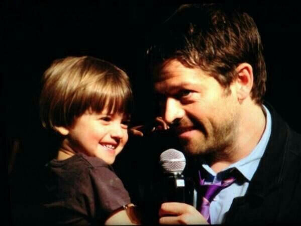 Misha and West. So cute together