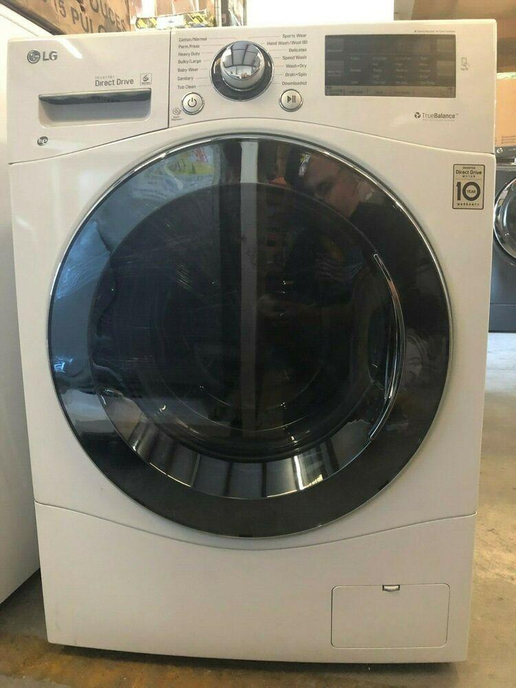 Lg Wm3488hw 24 Washer Dryer Combo 2 3 Cu Ft Capacity Stainless Steel Drum Stainless Steel Drum Washer Dryer Combo Steam Washing Machine