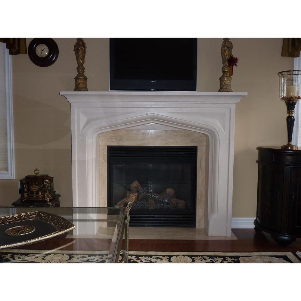 Historic mantels chateau series pisa 48 in x 62 in cast