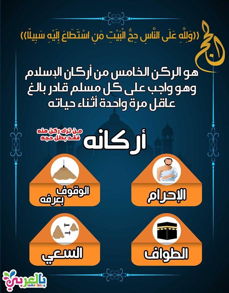الحج الركن الخامس من أركان الإسلام Islam For Kids Islam Quotes