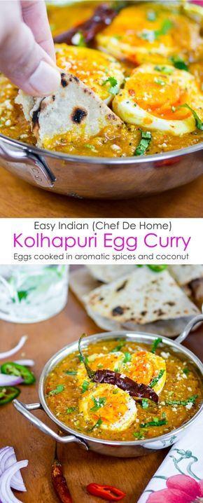 Enjoy easy indian kolhapuri egg curry with homemade indian roti for enjoy easy indian kolhapuri egg curry with homemade indian roti for dinner chefdehome forumfinder Choice Image