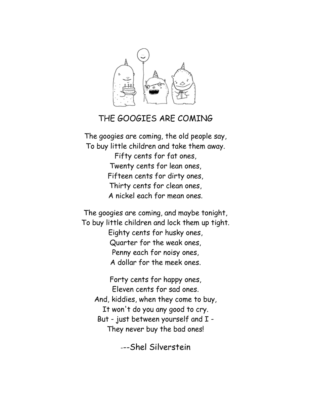 Finding Alliteration In Poems By Shel Silverstein Is