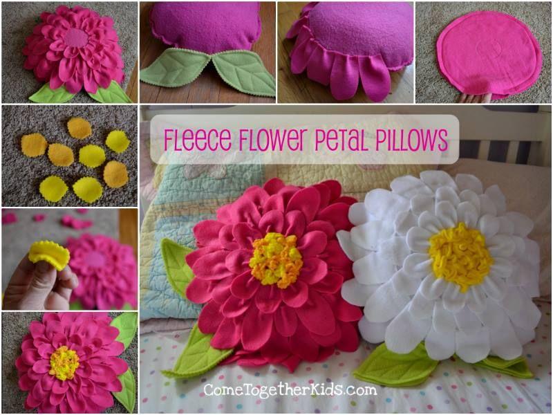 Creative Ideas - DIY Pretty Fleece Flower Petal Pillows & Creative Ideas - DIY Pretty Fleece Flower Petal Pillows   Flower ... pillowsntoast.com