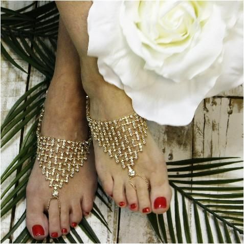 bridesmaid barefoot sandals barefoot sandals foot jewelry gold