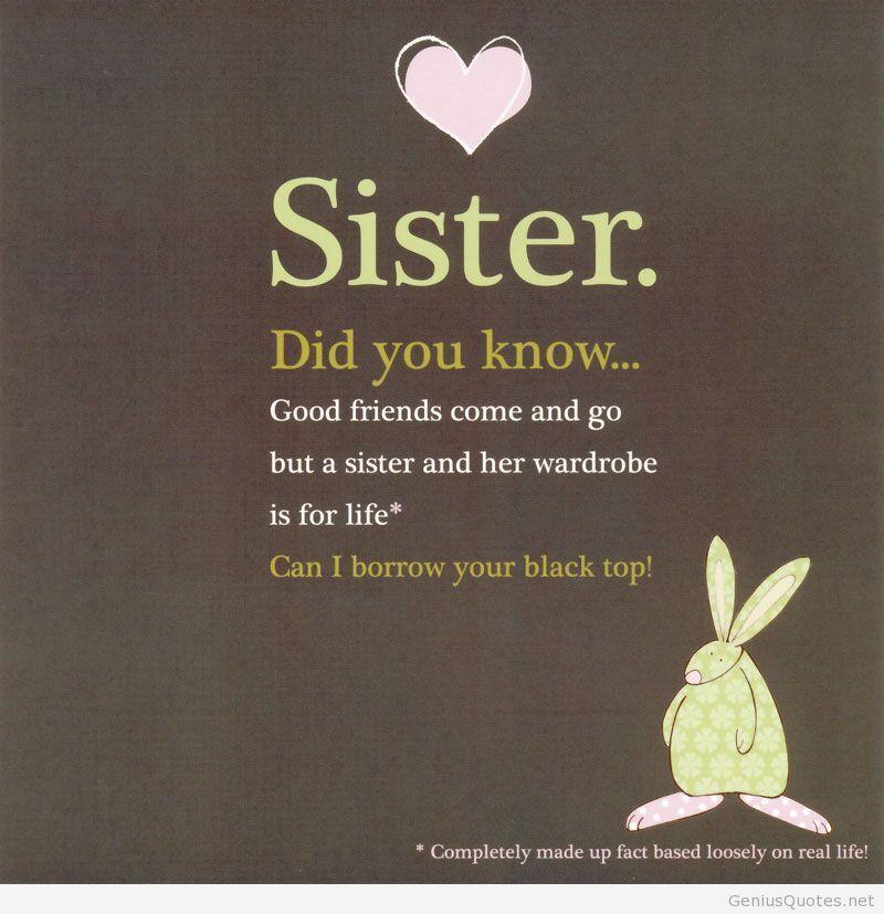 Happy Birthday sister Humor Pinterest – Funny Sister Birthday Cards