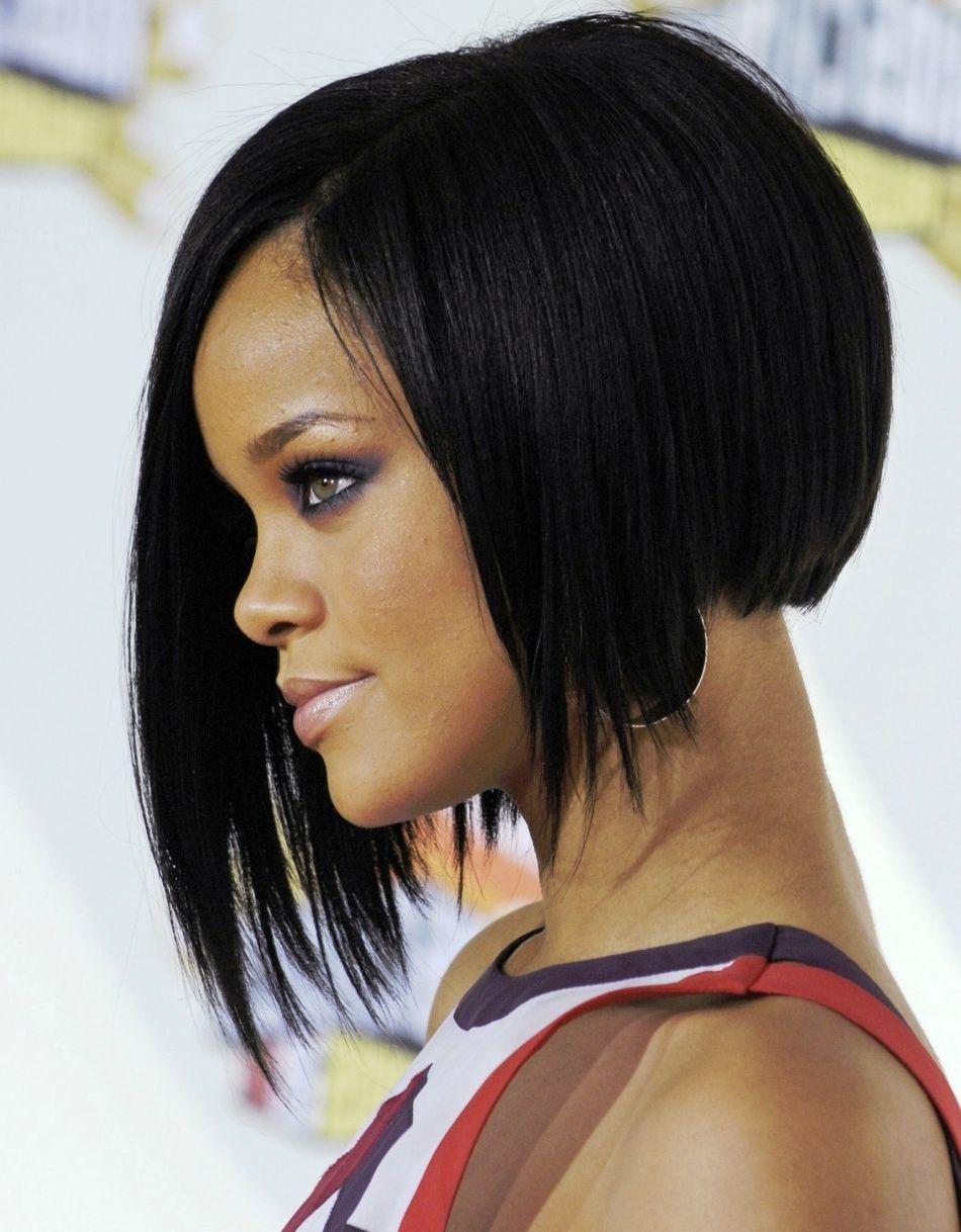 Rihanna Angled Bob Haircuts Ofjr Hair Black Bob Hairstyles