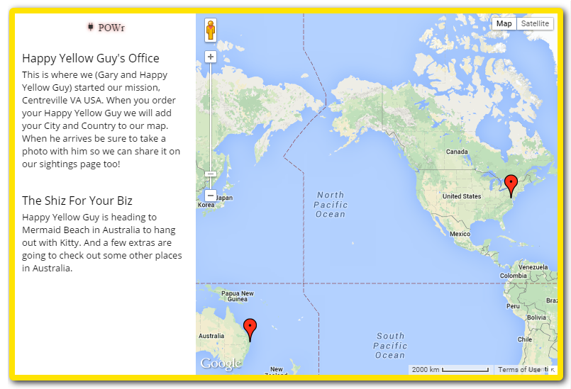 We\'d love to add you to our map of Happiness ...