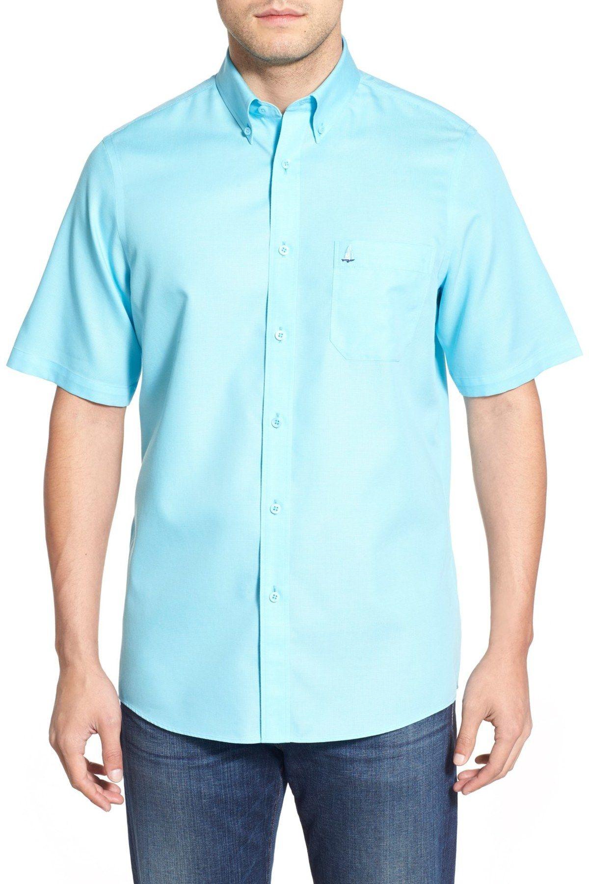 NORDSTROM MEN'S SHOP Smartcare(TM) Regular Fit Cotton