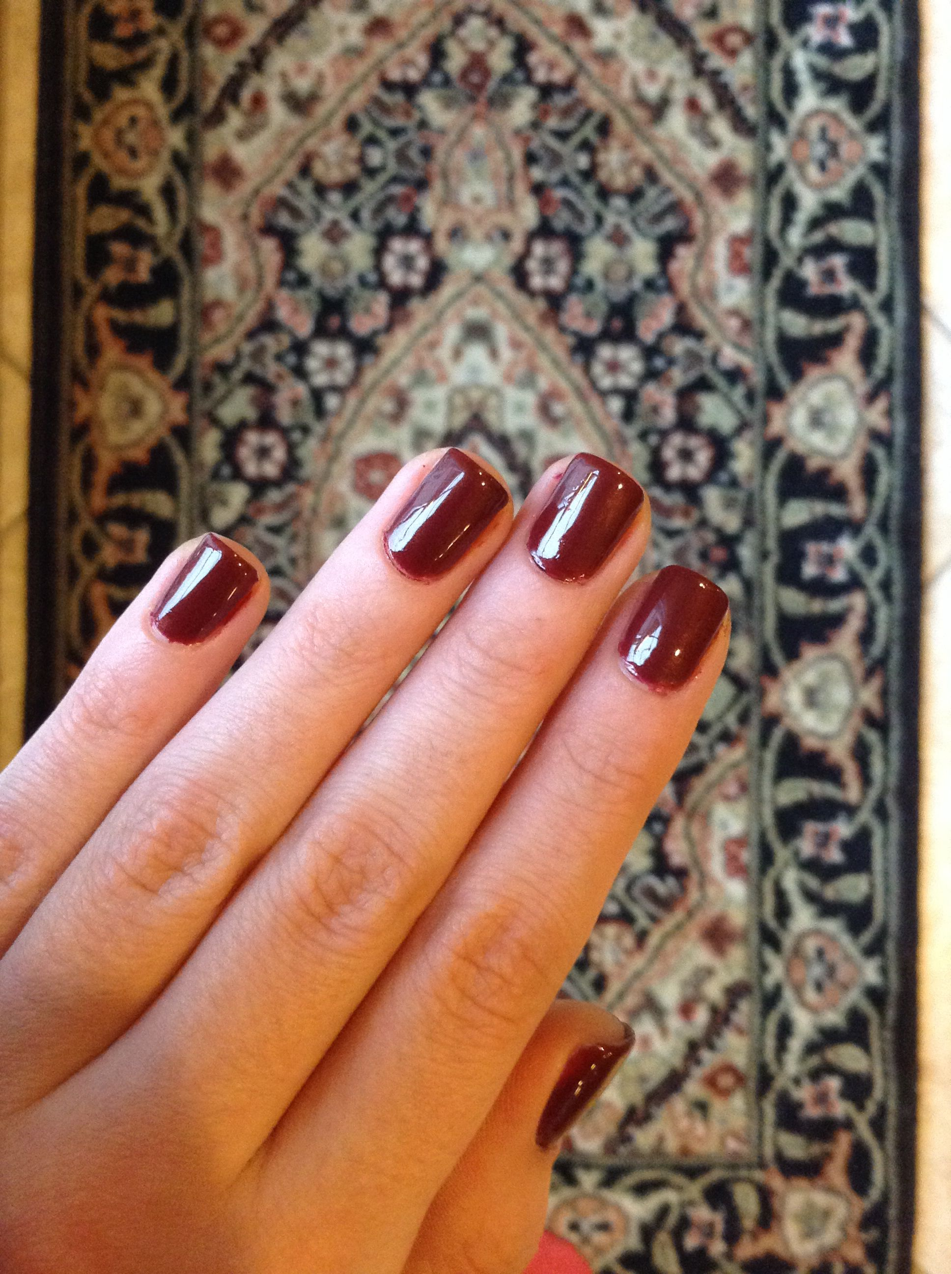Ox blood nails❤️
