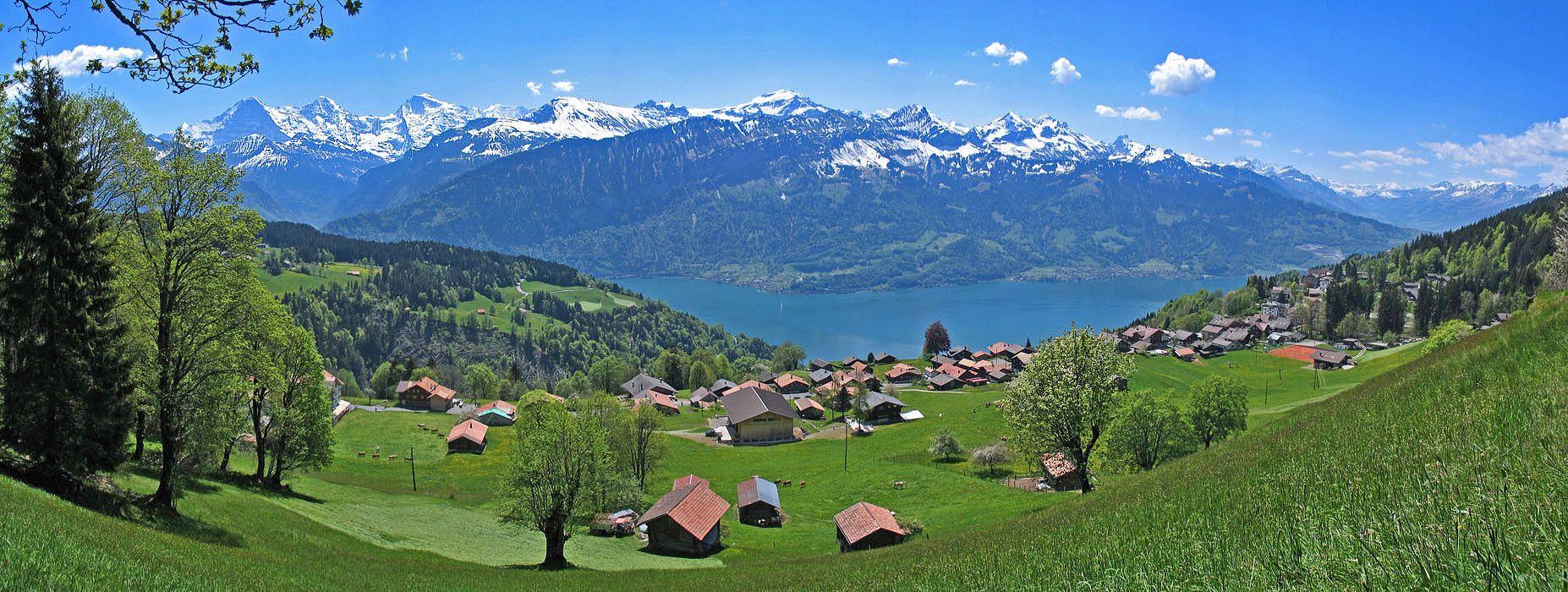view over Beatenberg, Berner Oberland
