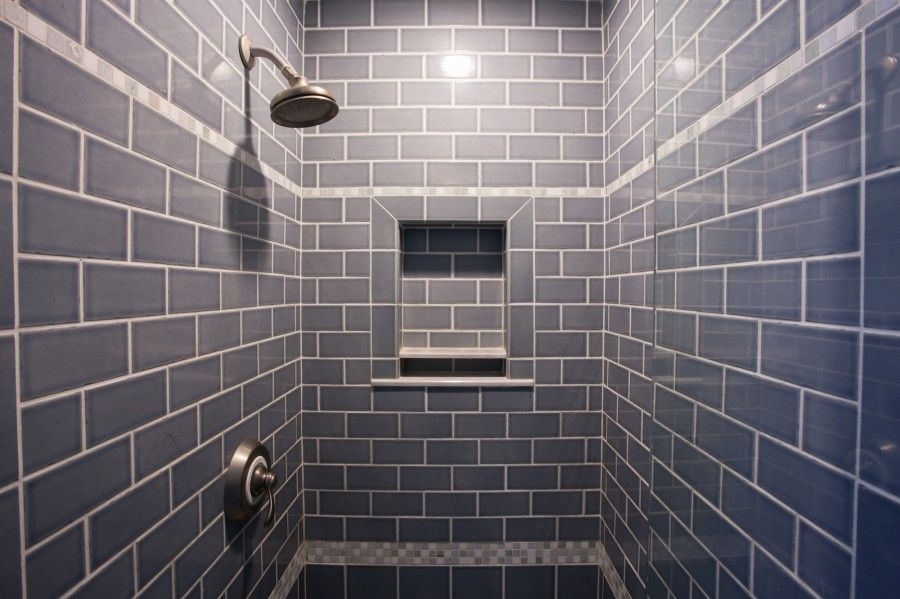 Frosted Ocean Glass Subway Tile Gray Shower Tile Subway Tile