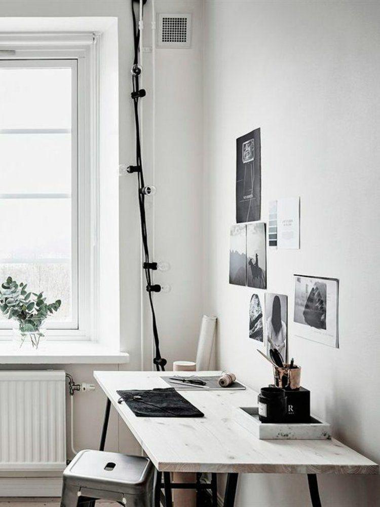 häusliches Arbeitszimmer einrichten Schreibtisch | Interieur ...