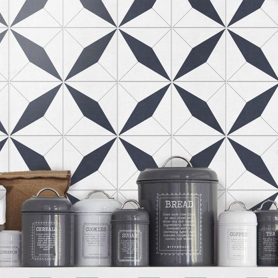 Moroccan floor tile decals flooring vinyl floor for Baldosas adhesivas cocina
