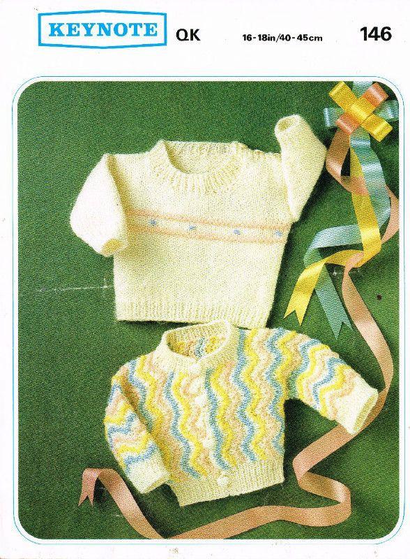 Keynote 146 baby jumper cardigan vintage knitting pattern on eBid ...