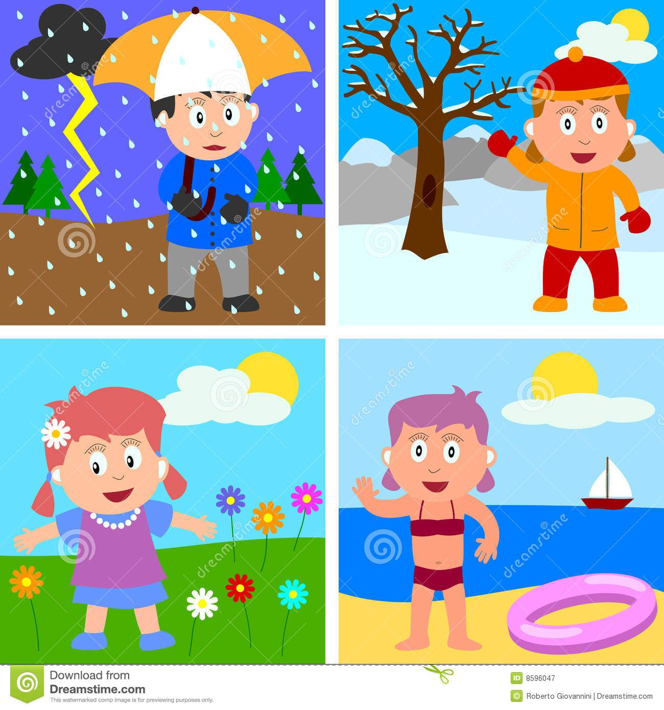 Seasons For Kids Clipart 10